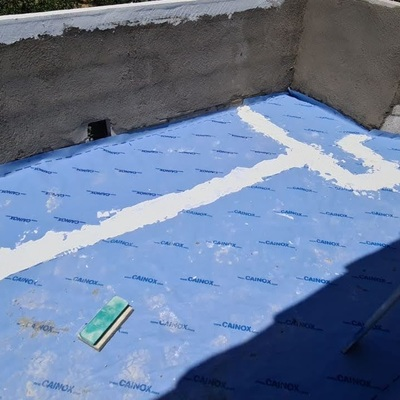 realizado de terraza con impermeablizacion