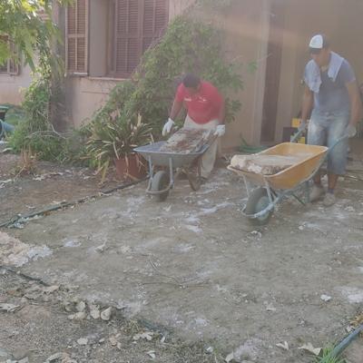 Preparación de terraza