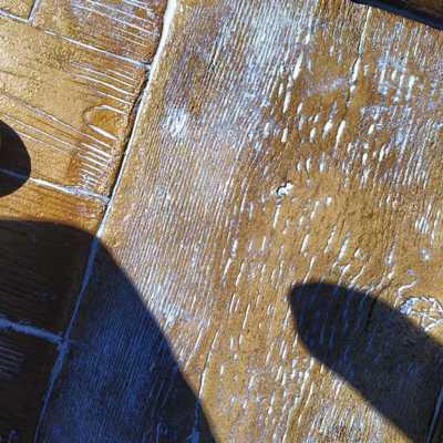 Cenefa viga rustica vs madera hormigon impreso