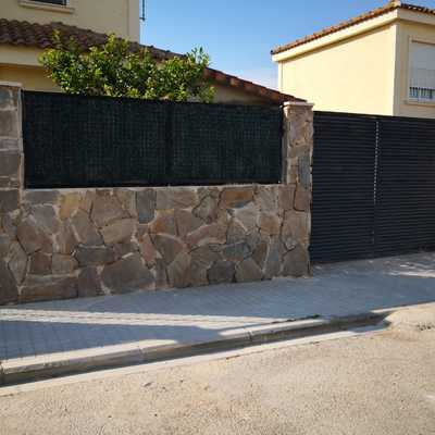 Muros alicatados de piedra