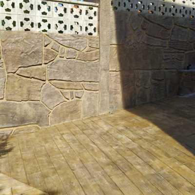 Hormigon impreso suelos y vertical