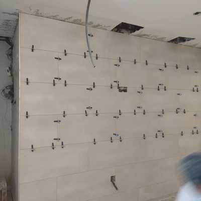 Alicatado de las paredes cocina