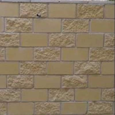 Muro con bloque decorado