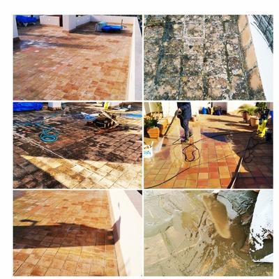 Limpieza y reparación de suelo