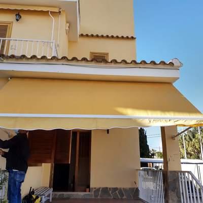reparación y confección de toldo de 2x3m