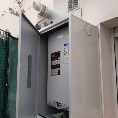 Instalacion caldera zona exterior