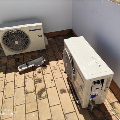 Instalación de maquinas splits con preinstalación integrada en la vivienda