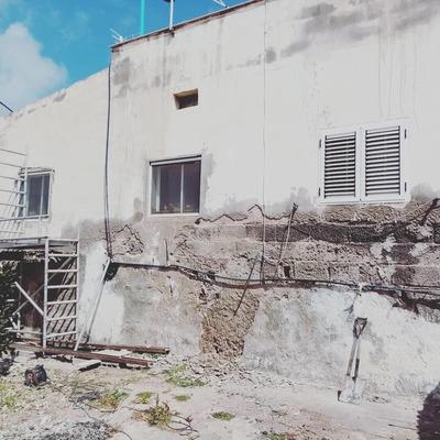 Así estaban esas paredes.