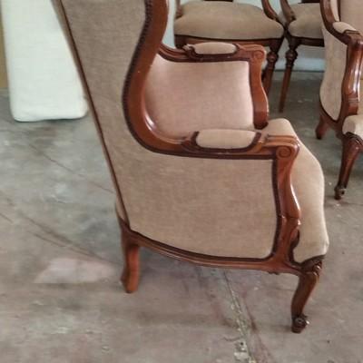 Retapizado de sillones Luis XV