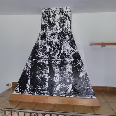 Decoración frontal veladura negro