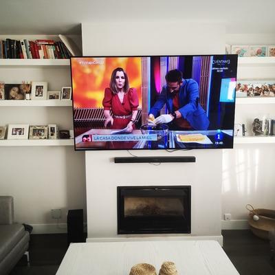 Instalada tv y barra de sonido