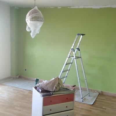 Pared en verde