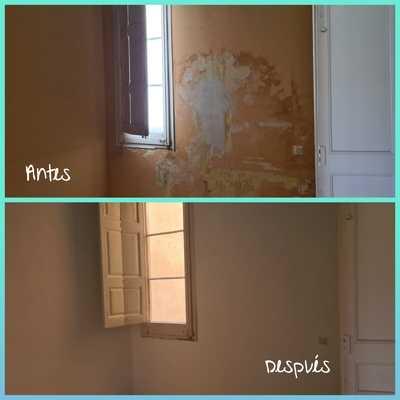 Reparacion pared dañada