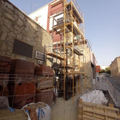 Instalación exterior de Ascensor.