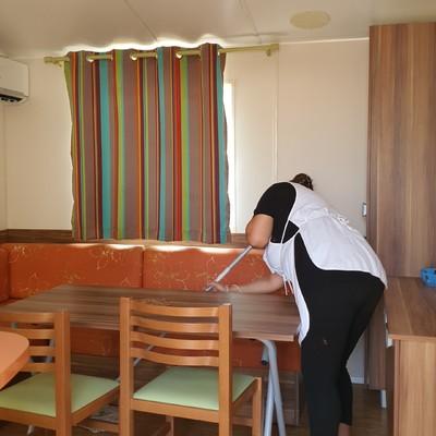 Limpieza de bungalow