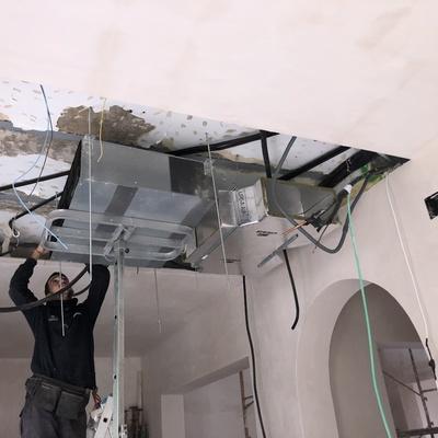 Instalacion Aire Acondicionado tipo conducto en cocina
