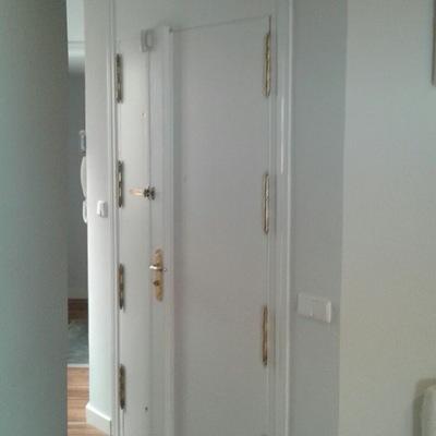 Puerta principal de vivienda unifamiliar.