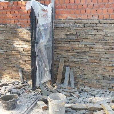 Muro de pidra rustica