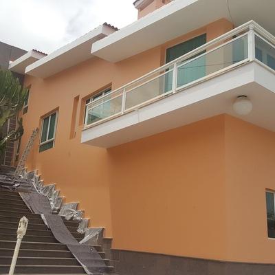 pintura lateral de fachada exterior vivienda
