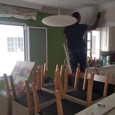 Pintura interior de vivienda cocina