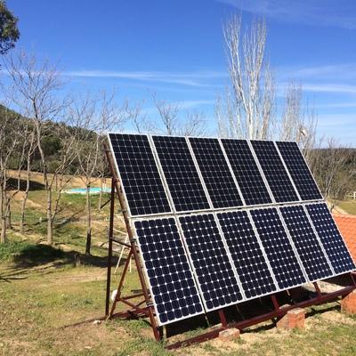 Instalación solar fotovoltaica aislada.