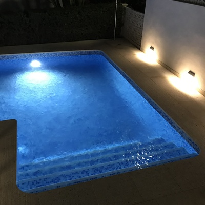 instalacion de led para piscina y exterior