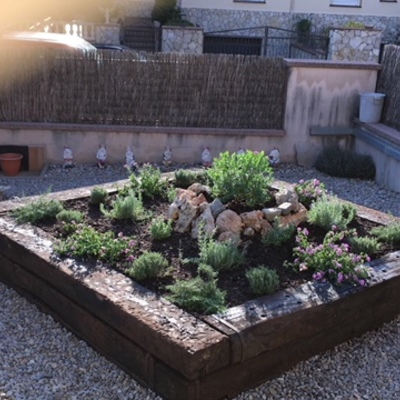parterre jardín