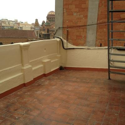 Reparación de muro perimetral de terraza y pintado
