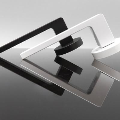 Manillas en blanco y negro para puertas
