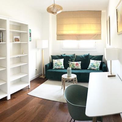 Dormitorio y sala de estar