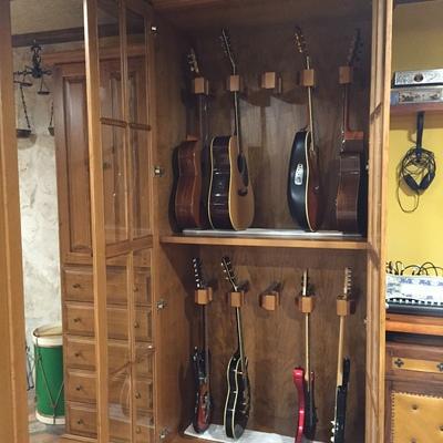 Mueble para guitarras