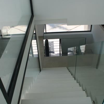 Escalera, cristales
