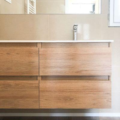 Lavabo color madera