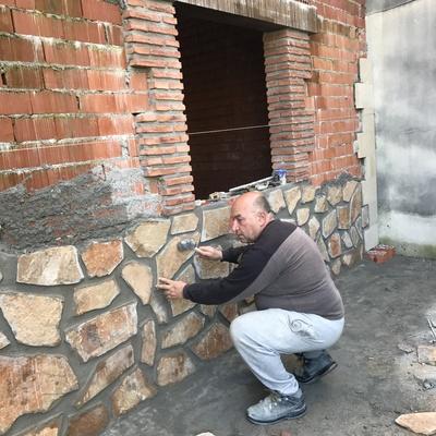 Colocando piedra