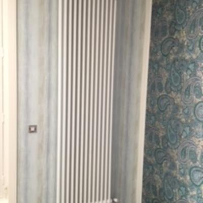 Instalación y montaje de radiador de diseño