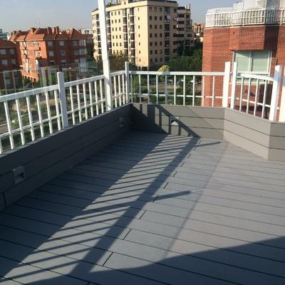 Madera de exterior sin mantenimiento terraza