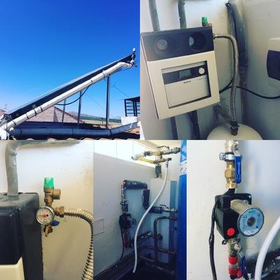 Reparacion de instalación solar térmica en Pedrezuela.