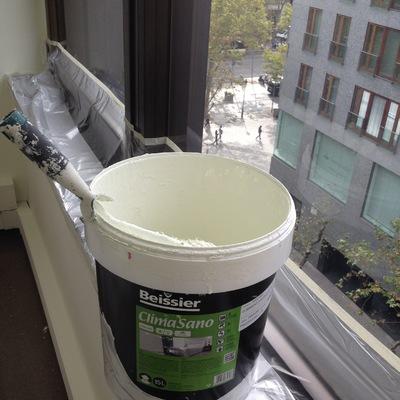 Pintura  activa fotocatalitica limpia el aire
