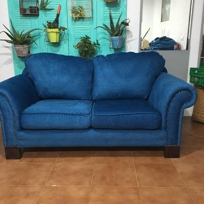 Sofá despues del tapizado