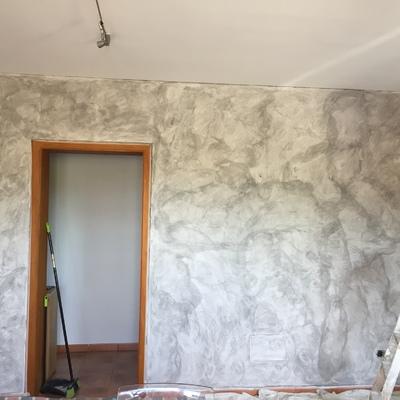 Esponjado en pared comedor
