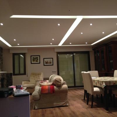 Ejecucion falsos techos, iluminacion y pavimentos