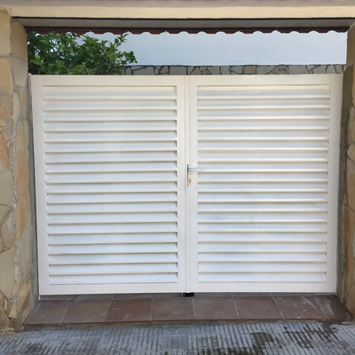Puerta doble apertura manual