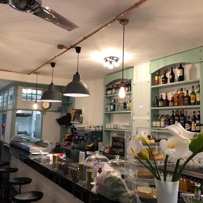Living café iluminación