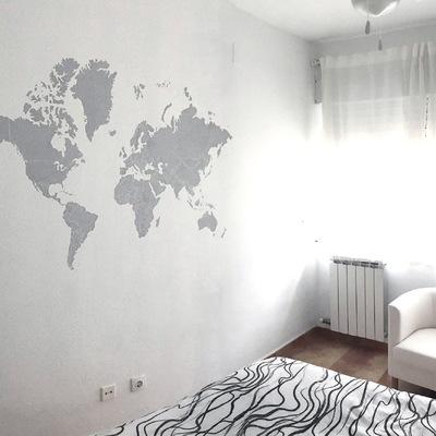 Mural en habitación dormitorio de matrimonio