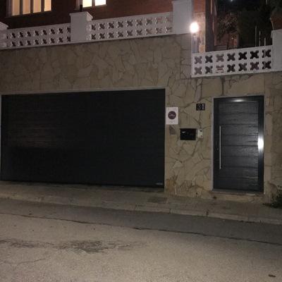 Puerta seccional y peatonal de panel residencial Hörmann
