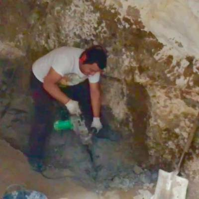 Restauración de habitación cueva.