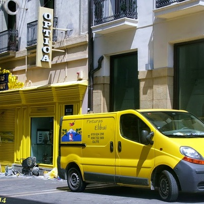 Pintado de escaparate en Pamplona