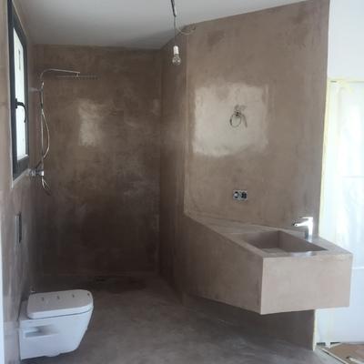 Baño integrado microcemento