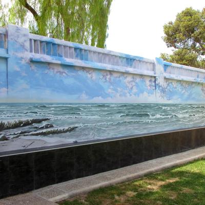 Mural exterior vivienda.