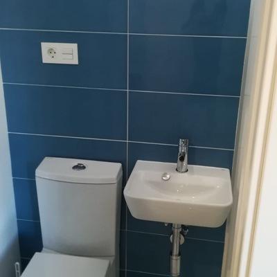 Creación de nuevo baño en pequeño espacio.
